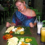 Angie beim Inder in Melaka