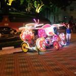 Melaka - Velotaxi mit Vollbeschallung